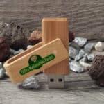 clé usb publicitaire en bois personnalisable Twister