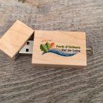 clé usb en bois à personnaliser avec logo