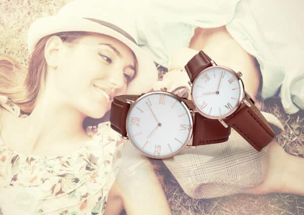 Montres personnalisables vintage pour femme à personnaliser avec votre logo. Fabrication française