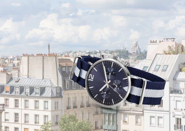 montre publicitaire chrono luxe