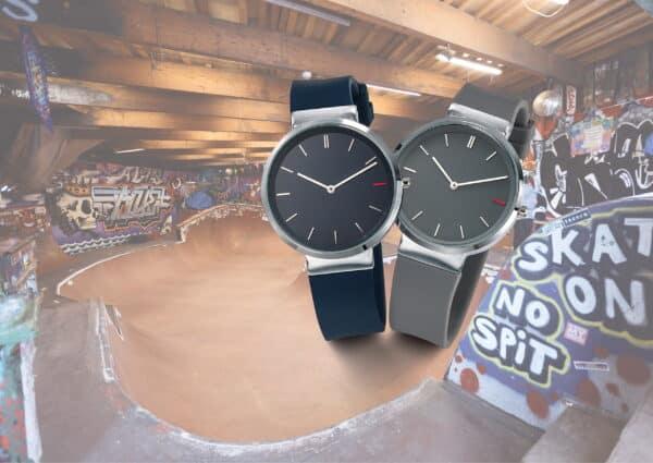 Montre publicitaire Slide, montre mixte avec bracelet interchangeable, cadeau d'entreprise horlogerie