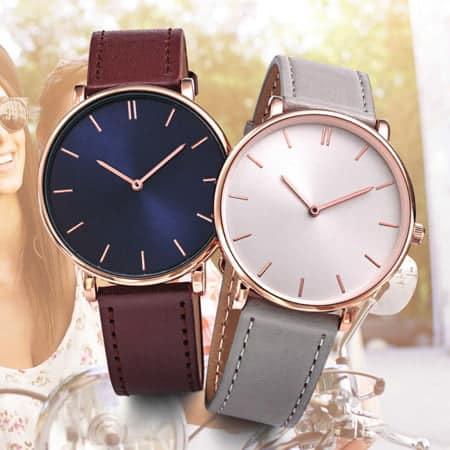 Montre publicitaire bracelet cuir Giulia