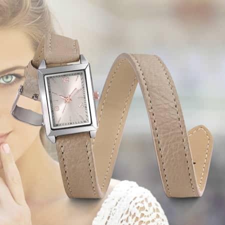 Montre pour Dame Etreinte. Montre à personnaliser avec bracelet double