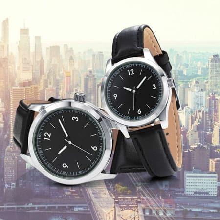 Duo de montres publicitaires MAnhattan. Montre pour dame et homme