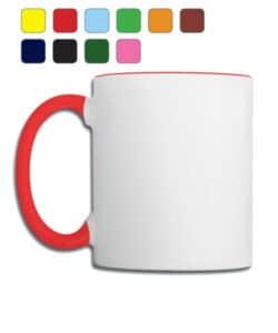 mug bicolor publicitaire, personnalisation de votre logo par sublimation
