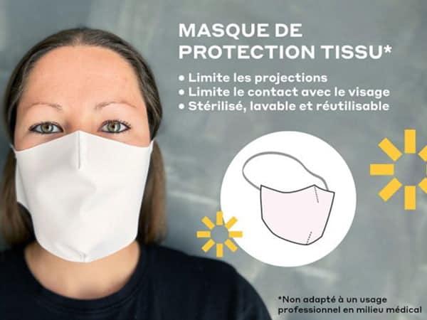 masque tissu lavable grand public