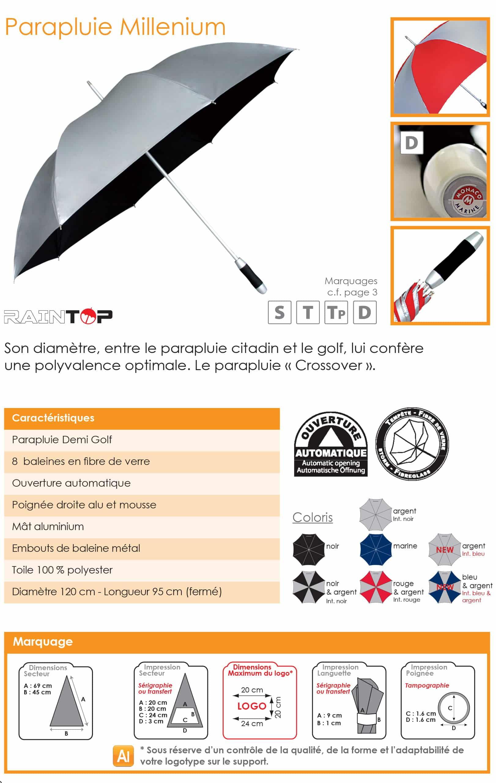 parapluies publicitaires sport golf pas chers