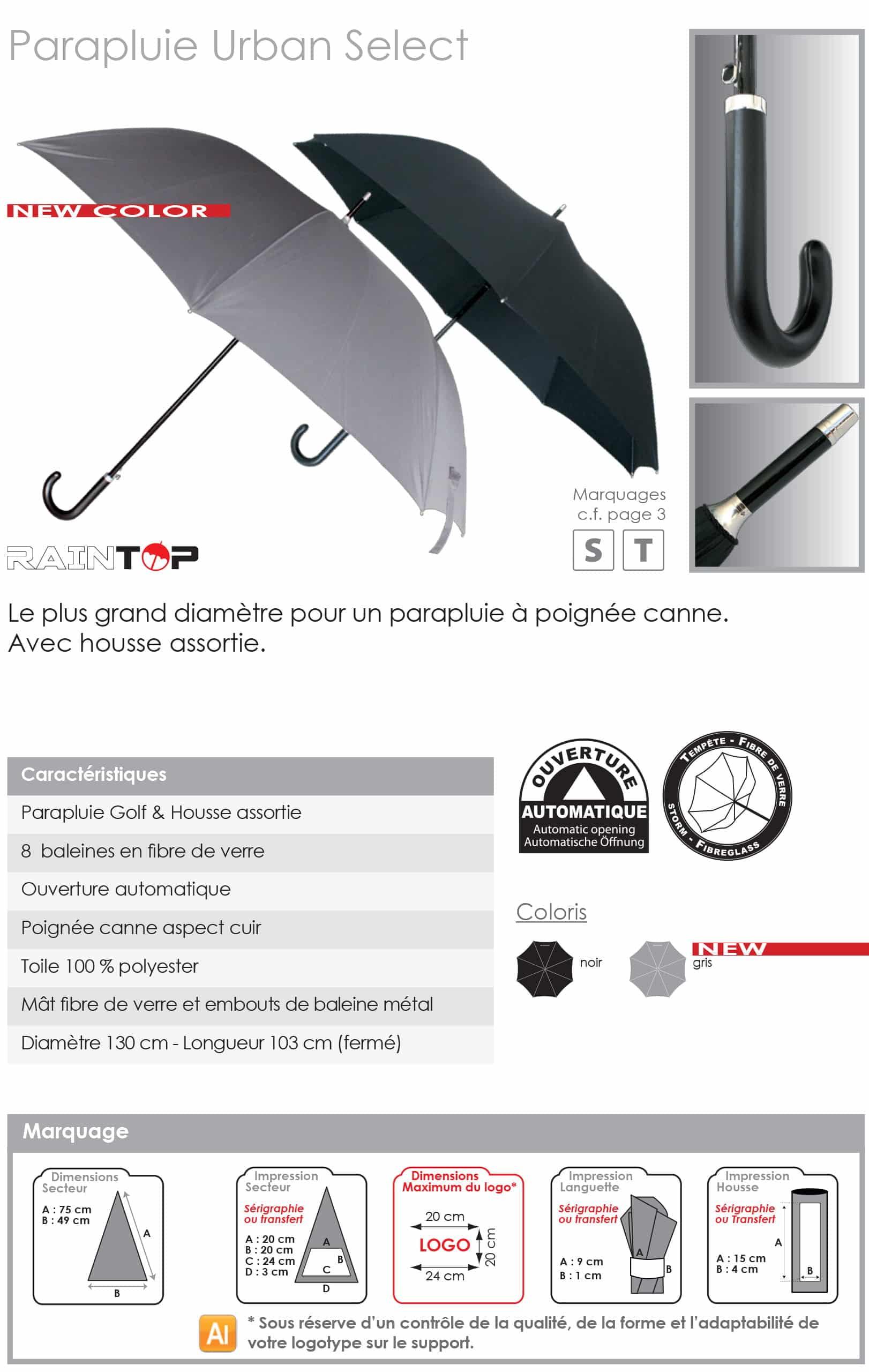 parapluies publicitaires sport golf